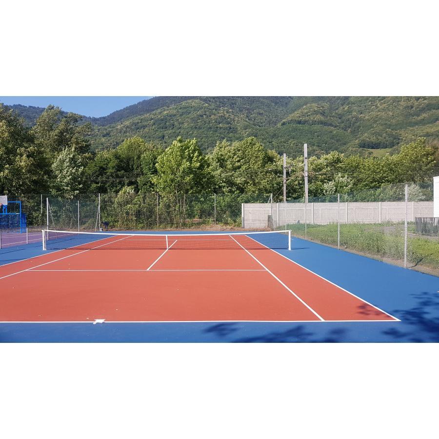 Construction Résine synthétique terrain de tennis Lyon Toulon
